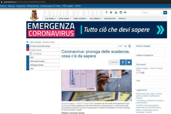 Coronavirus: proroga di molte scadenze (patente e ...